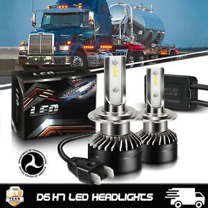 Pair H7 LED Headlight Kit HiLow Beam CSP Chips Bulb Auto Great For Western Star