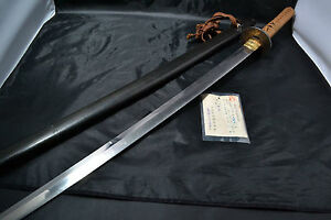 Japanese Samurai Real Sword Katana Sharp Steel Blade With Koshirae Antique 59