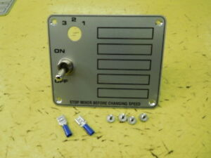 Hobart Mixer Switch Plate With Switch Screws For C100 10qt Mixer 00 291735