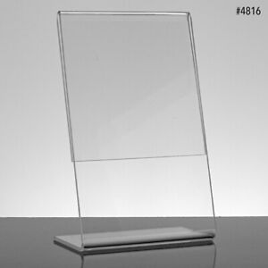 Slant Style Sign Holder In Acrylic 11 W X 8 1 2 H