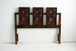 Oceanic Tiki Queen Headboard In Style Of Witco Pulaski Mid Century Modern Mcm