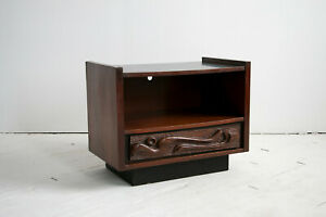 Oceanic Tiki Bed Night Stand In Style Of Witco Pulaski Mid Century Modern Mcm
