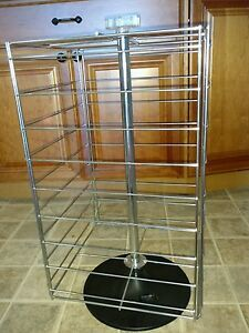 Earring Display Rack With Heavy Duty Chrome Wire