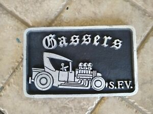 Gassers Car Club Plaque San Fernando Valley Ca Scta Nhra Hot Rod Plate Holley 67