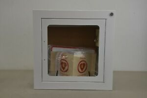 Zoll Aed Wall Cabinet surface Mount W Alarm P n 8000 0817 For Zoll Aed Plus