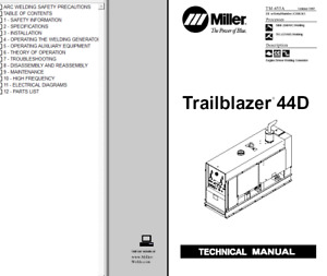 Miller Trailblazer 44d Service Technical Manual