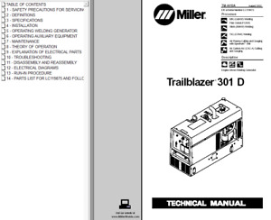 Miller Trailblazer 301 D Service Technical Manual