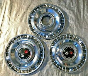 Vintage 1961 Chevy 409 Impala Belair Biscayne 14 Hubcaps Wheel Covers