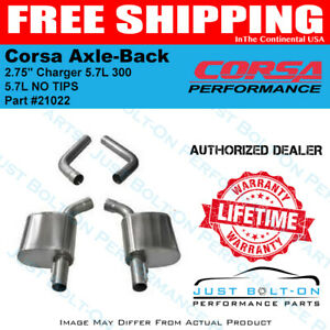 Corsa 2 75in Sport Axle Back 17 19 Charger 5 7l 300 5 7l 21022 No Tips