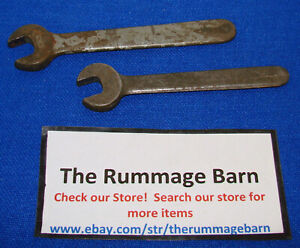 2 Vintage Early Model Armstrong Hand Wrenches 3 4 And 5 8 Single End