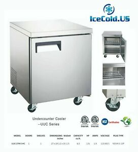 Counter Work Top Commercial Cooler Under Counter Freezer Restaurant Stainless