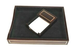 Dacasso Walnut Leather Front load Letter Tray A8401 And Memo Holder