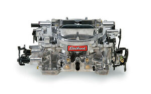 Edelbrock 1804 Dual Quad 4 Barrel Carburetor 500 Cfm Manual Choke