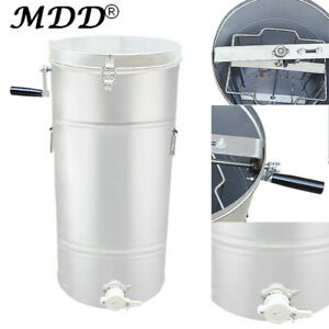 2 Frame Stainless Steel Honey Extractor Centrifuge Tool Lid Beekeeper Supply