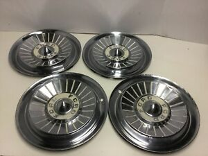 1957 Ford Fairlane Thunderbird 14 Inch Wheelcovers Hubcaps Chrome