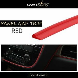 144 Moulding Strip Line Red Door Edge Gap Trim Dashboard Steering Wheel Guard