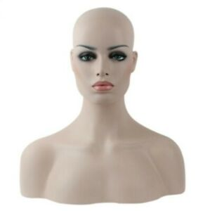 Top Quality Fiberglass Mannequin Head Bust Display Wig jewelry hat Fast Shipping