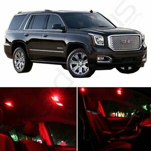 15pcs Super Red Interior Package Kit For Gmc Yukon 2001 2006 Car Led Lights Bulb