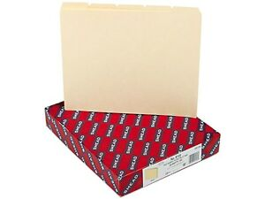Smead 50156 Recycled Tab File Guides Blank 1 5 Tab Manila Letter 100 box