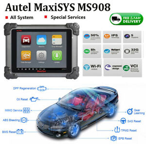 Autel Maxisys Ms908 Obd2 Diagnostic Scanner Car Ecu Programmer Key Coding mv108