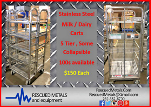 Cheap Industrial Stainless Dairy Milk Carts