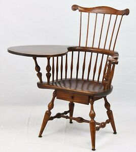 Wallace Nutting Windsor Chair Comb Back Writing Armchair Williamsburg Style