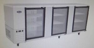 Atosa Mbb90g Refrigerated 90 Back Bar Cabinet With Glass Doors