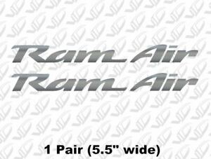 Ram Air Silver Vinyl Decal Sticker Trans Am Firebird Ws6 Pontiac Formula Hood
