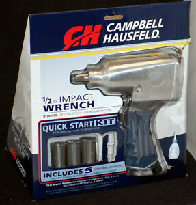 Campbell Hausfeld 1 2 Impact Wrench Quick Start Kit W 5 Additional Accessories