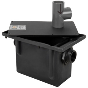 Leak proof Seamless Construction Plastic 8 Lb Grease Trap With Threaded Connect