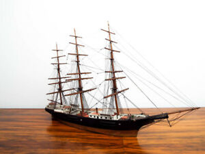 Antique 1886 Model Boston Ship New England Shadow Box Model Pick Up Only