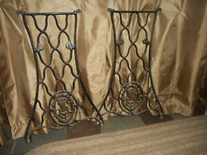 Vintage Singer Treadle Sewing Machine Cast Iron Base Legs