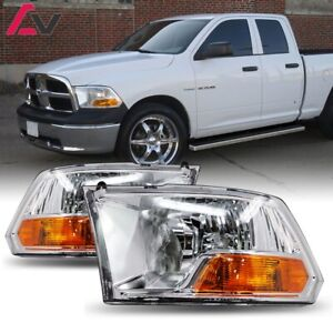 09 18 For Dodge Ram Clear Lens Replacement Headlights Headlamps Left Right