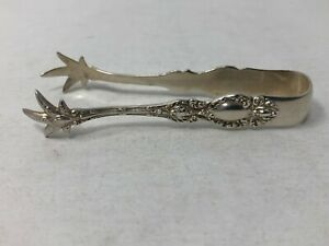 Wallace Lucerne Sterling Silver Small Sugar Tongs 3 1 8 No Mono