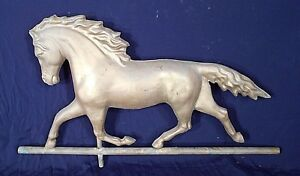 Antique 19th Early 20th Century Gold Painted Copper Horse Weathervane