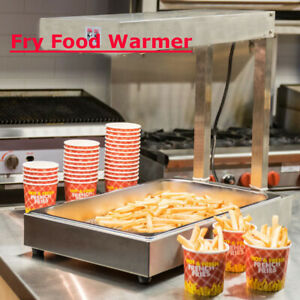 Commercial Electric French Fry Deep Display Warmer Dump Station Heat Lamp 110v