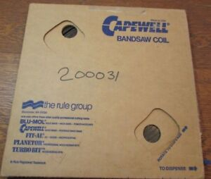 Capewell 100 Foot Coil Metalworking Bandsaw Blade 1 4 Flexible Carbon 25 Gauge