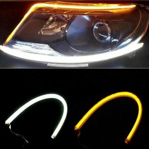 2pcs 24 Inches Dual Color White sequence Amber Led Strip Light Yanf Waterproof