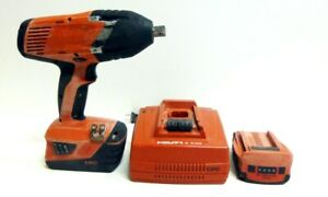 Hilti Siw 22t A Cordless Impact Wrench 1 2 Drive Heavy Duty 2 Batteries Used