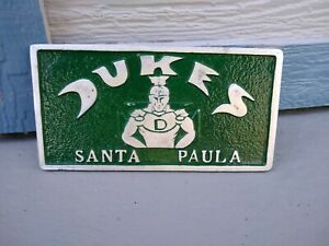 Dukes Car Club Plaque Lowrider Magazine License Plate Frame 1964 Impala Ss