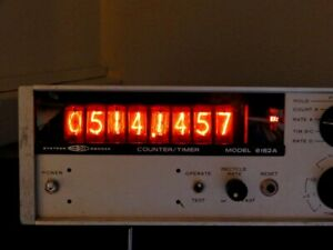 Systron Donner 6152a Freq Counter timer 8 digit Nixie Display Fully Working
