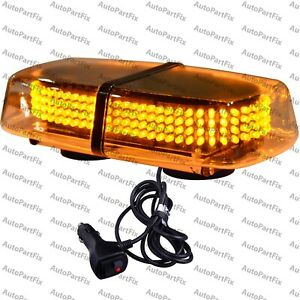 240 Led Magnetic Amber Yellow Emergency Truck Strobe Flash Light Warning Roof