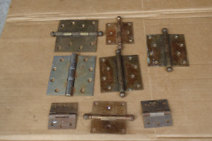 Vintage Stanley Sweetheart Sw Cabinet Door Hinges Brass Metal Junk Drawer