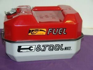 Vintage Blitz Fuel Tool Mate Usmc Metal 1 1 2 Gallon Gas Can And Tool Box