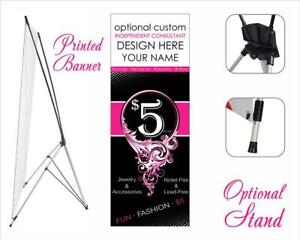 Paparazzi Banner Stand Full Color Printed Vinyl Banner X Style 24 X 63