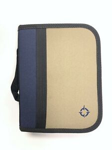 Franklin Covey Collegiate Compact Edition 6 Ring Planner Navy Khaki With Inserts