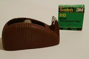 Vintage Scotch Desktop Tape Dispenser Cast Iron Whale Tail And Roll Of Tape Usa