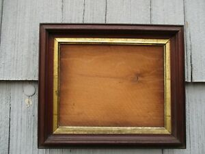 Antique 19thc Walnut Wood Picture Frame With Early Glass Fits 8 1 2 X 10 1 2