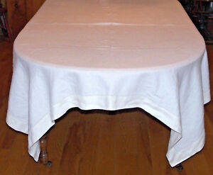 Vintage Linen Tablecloth 86 8 Napkins Or Lapkins 19 Classic Hem Stitch 1930