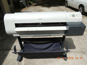 Canon Imageprograf Ipf710 36 Large Format Color Printer Barely Used With Paper